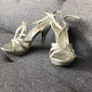 Unlisted sparkly silver heels-7.5 or 8